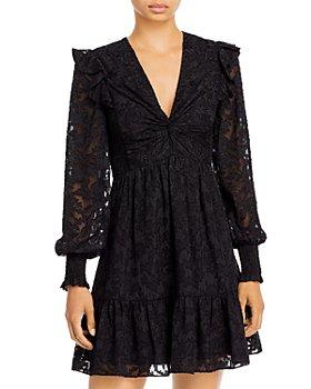 AQUA - Extended Shoulder Dress - 100% Exclusive
