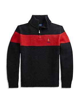 Ralph Lauren - Boys' Cotton Quarter Zip Sweater - Little Kid, Big Kid