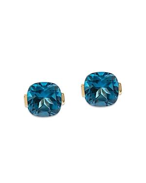 Bloomingdale's London Blue Topaz Cushion Cut Stud Earrings in 14K Yellow Gold - 100% Exclusive