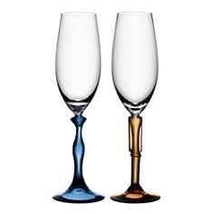 """Kosta Boda - """"Two Of Us"""" Champagne Flute, Pair"""