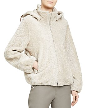 Theory - Hooded Shearling Jacket