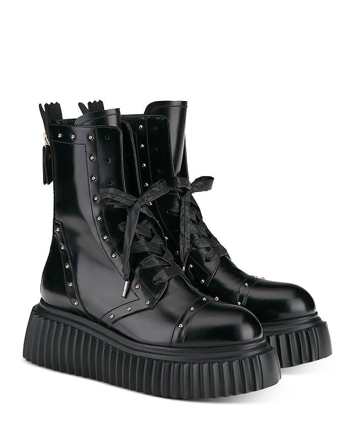 AGL - Women's Milagros Lace Up Platform Combat Boots