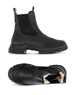 Ganni Sherpa Lined Lug Sole Boots