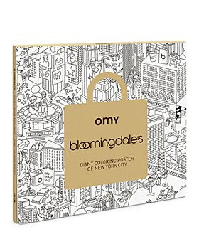 OMY - Bloomingdale's Giant Coloring Poster of New York City - Ages 3+