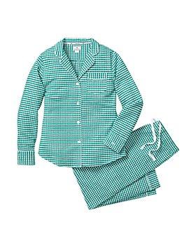 Petite Plume - Unisex Gingham Flannel Pajama Set - Baby, Little Kid, Big Kid
