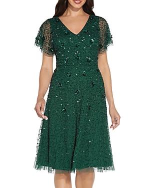 Beaded Flutter Dress