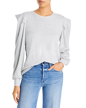 Cindy Puff Sleeve Cotton Sweatshirt