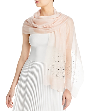 Solid Sparkle Wool & Cashmere Wrap Scarf