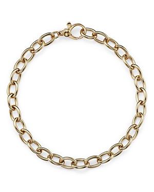 14K Yellow Gold Polished Oval Link Bracelet