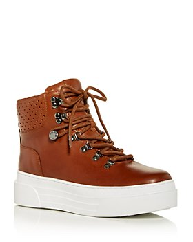 J/Slides - Women's Adele Platform High Top Sneakers
