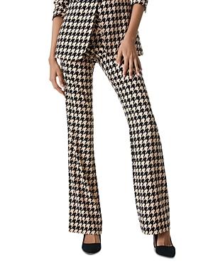 Houndstooth Print Slim Fit Pants