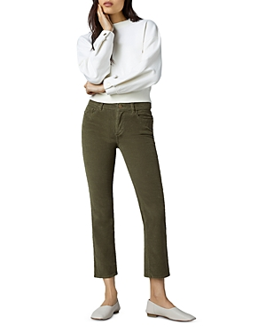 1961 Mara Corduroy Instasculpt Straight Ankle Jeans in Winter Moss