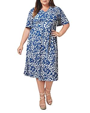 Zoe Printed Midi Dress
