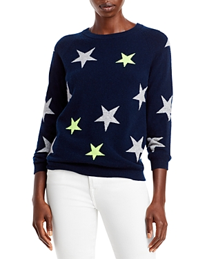 Cashmere Star Print Sweater (64% off)