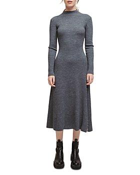 Maje - Ribbed Sweater Dress