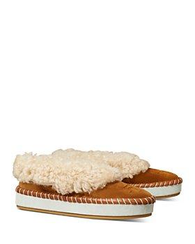 Tory Burch - Women's Plush Slip On Slippers