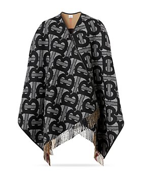 Burberry - TB Monogram Half Mega Wool & Cashmere Cape