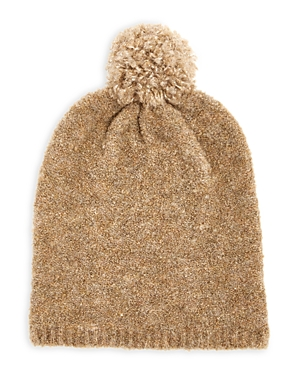 Teddy Recycled Boucle Knit Pom Pom Hat
