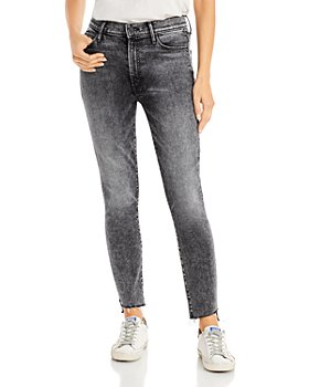 MOTHER - Stunner Step Fray Skinny Jeans in Train Stop