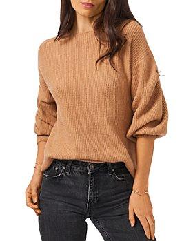 1.STATE - Cross Back Crewneck Bubble Sleeve Sweater