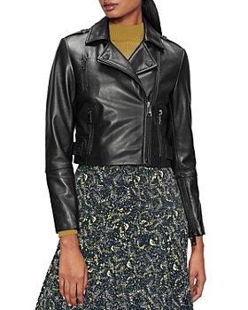 Ted Baker - Ssalli Cropped Leather Biker Jacket