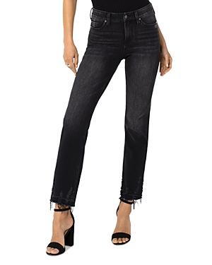 Sadie Mid Rise Straight Fit Jeans in Cavalier