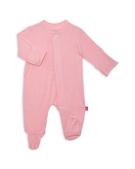 MAGNETIC ME - Girls' Dusty Rose Solid Footie - Baby