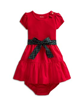 Ralph Lauren - Girls' Stretch Interlock Dress & Bloomer Set - Baby