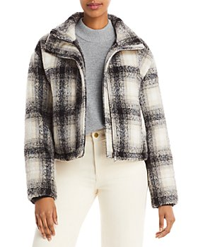 BAGATELLE.NYC - Plaid Cropped Puffer Jacket