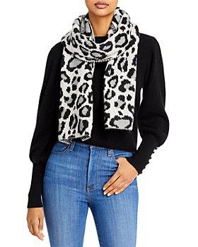 AQUA - Animal Pattern Knit Scarf - 100% Exclusive