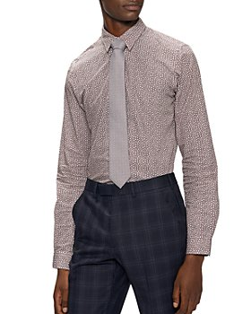 Ted Baker - Slim Fit Magnolia Print Shirt