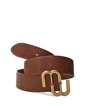 Maje - Signature Bombe Leather Belt