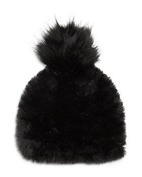 Jocelyn - Faux Fur Pom Pom Hat