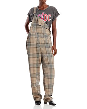 WeWoreWhat - Plaid Overalls