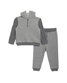 Splendid - Boys' Cable Knit Quarter Zip Pullover & Jogger Pants Set - Baby