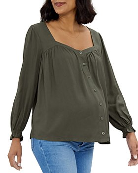 Ingrid & Isabel - Button Front Sweetheart Top