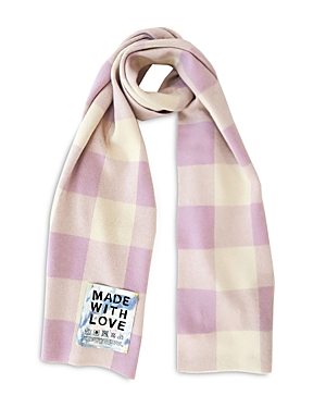 Gingham Cashmere Scarf
