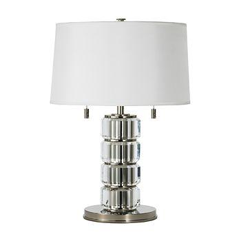 """Ralph Lauren - """"Crystal Bolts Pillar"""" Table Lamp"""