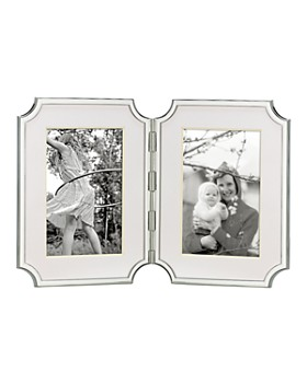 "kate spade new york - ""Sullivan Street"" Hinged Double Silverplated Frame, 4"" x 6"""