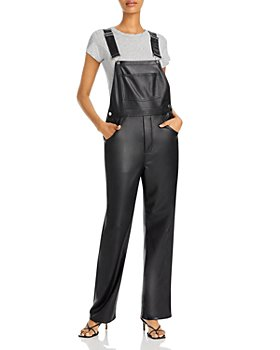 WeWoreWhat - Basic Faux Leather Overalls