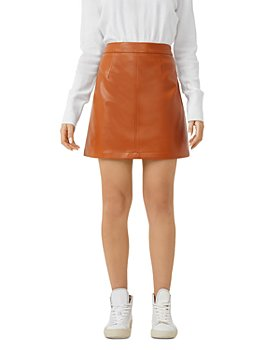 FRENCH CONNECTION - Crolenda Faux Leather Mini Skirt