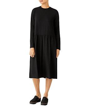 Eileen Fisher - Jersey Long Sleeve Dress