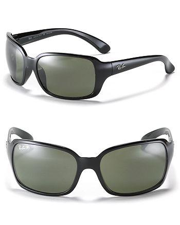c601e3f8c9 Ray-Ban - Unisex Big Glamour Wrap Polarized Sunglasses