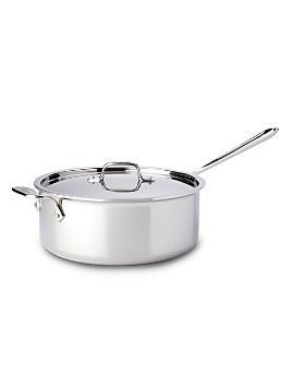 All-Clad - Stainless Steel 6-Quart Deep Sauté Pan with Lid