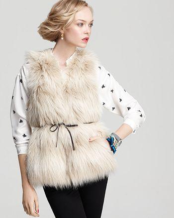 Juicy Couture Black Label - Polar Faux Fur Vest