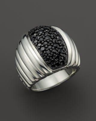 John Hardy Bedeg Lava Dome Black Sapphire Ring, Size 7