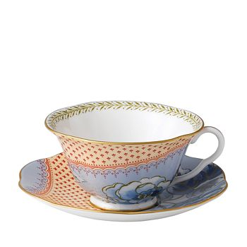 Wedgwood - Butterfly Bloom Blue Peony Cup & Saucer