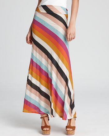 ALTERNATIVE - Seneca Striped Maxi Skirt
