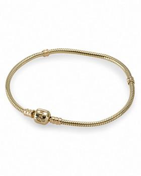 Pandora - Moments Collection 14K Gold Signature Clasp Bracelet, 19 cm