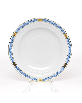 Herend - Chinese Bouquet Salad Plate, Garland Blue